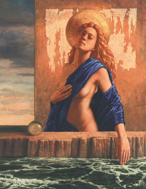 Jake Baddeley - Song to the Siren - oil on canvas - 90 x 70 cm - 1999 - SOLD