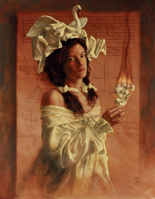 Jake Baddeley - Swan Song - oil on canvas - 90 x 70 cm - 1999 - SOLD