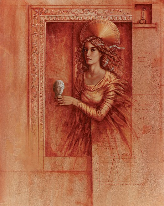 Jake Baddeley - The Gift - oil on canvas - 90 x 70 cm - 1999 - SOLD