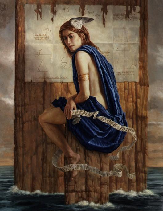 Jake Baddeley - We Are Islands - oil on canvas - 90 x 70 cm - 1999 - SOLD