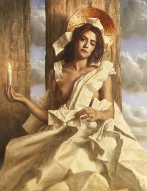 Jake Baddeley - The Flame - oil on canvas - 90 x 70 cm - 2000 - SOLD