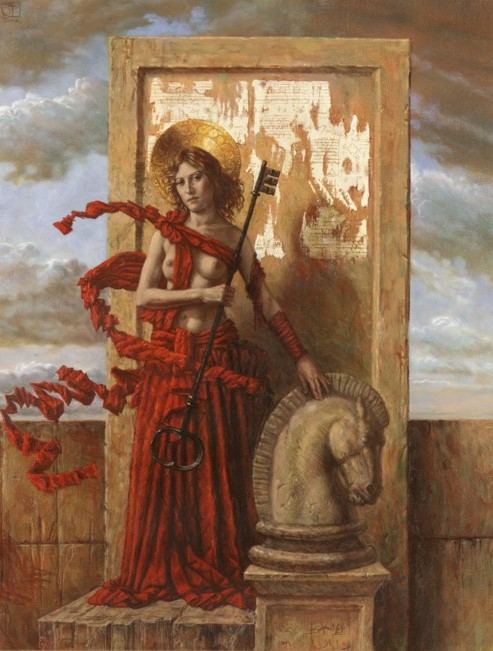Jake Baddeley - The Guide - oil on canvas - 90 x 70 cm - 2001 - SOLD