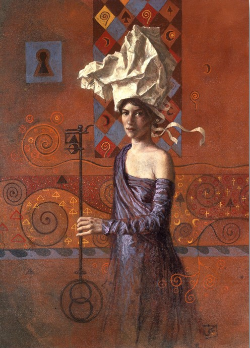 Jake Baddeley - The Master Key - oil on canvas - 50 x 70 cm - 2002 - SOLD