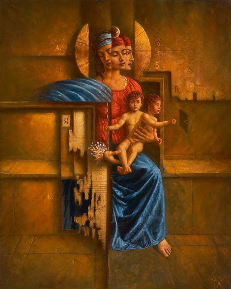 Jake Baddeley - Madonna - oil on canvas - 90 x 70 cm - 2003 - SOLD