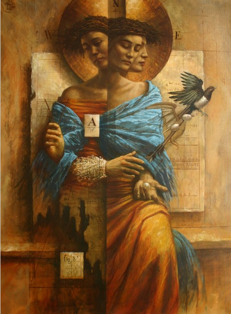 Jake Baddeley - Meta - oil on canvas - 110 x 80 cm - 2004 - SOLD