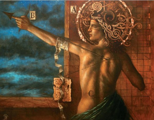 Jake Baddeley - Message to the Sun - oil on canvas - 2004