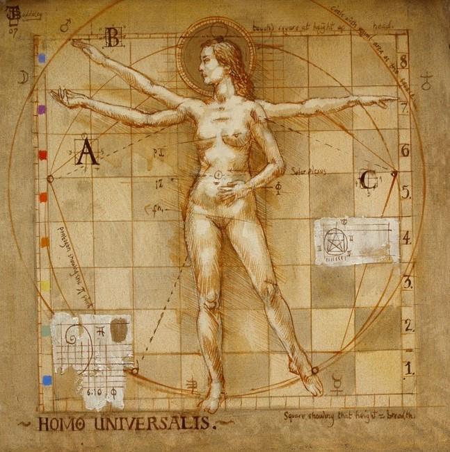 Jake Baddeley - Homo ad Quatrum - oil on canvas- 80 x 80 cm - 2007 - SOLD