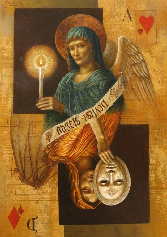Jake Baddeley - Angels and Devils - oil on canvas - 50 x 70 cm - 2007 - SOLD