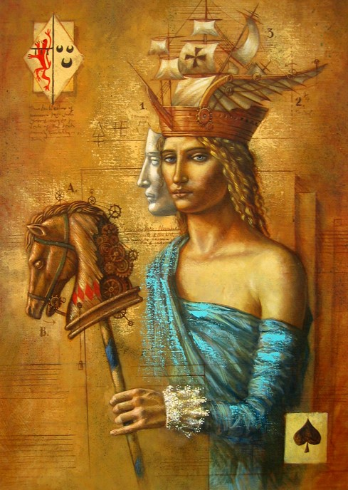 Jake Baddeley - Charades - oil on canvas - 70 x 50 cm - 2007 - SOLD