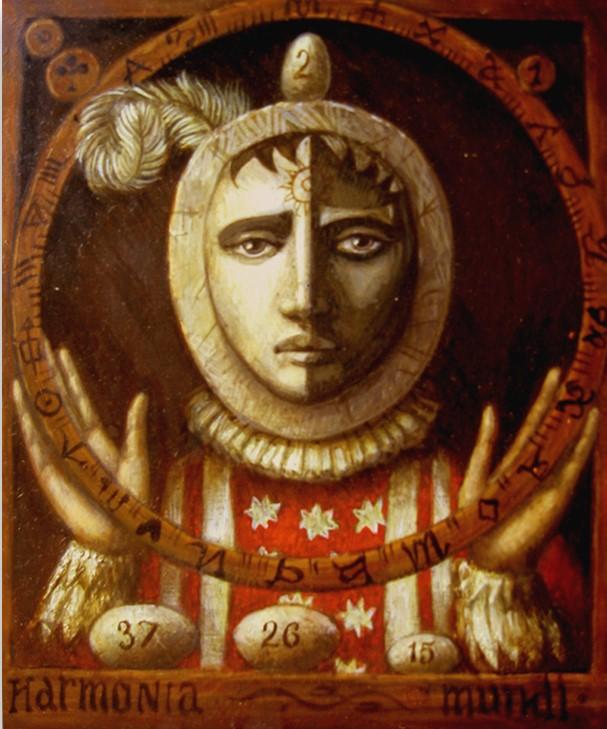 Jake Baddeley - Harmonia Mundi - oil on wood panel - 35 x 30 cm - 2007 - SOLD