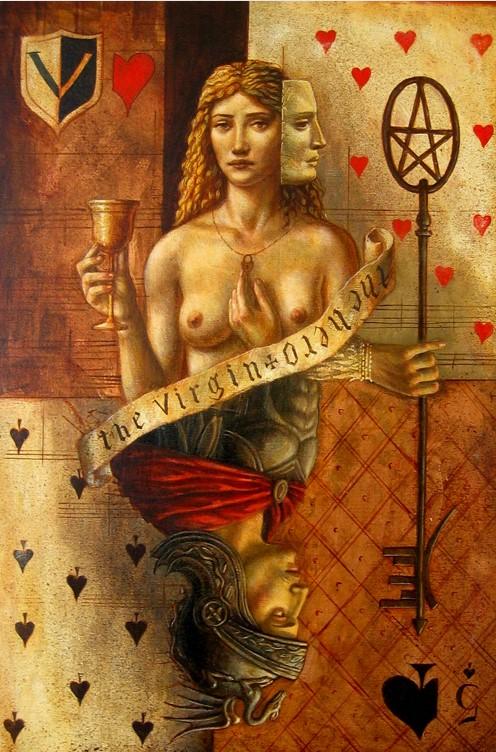 Jake Baddeley - Hero and Virgin - oil on canvas - 50 x 70 cm - 2007 - SOLD