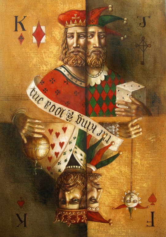 Jake Baddeley - King and Fool  - oil on canvas - 50 x 70 cm - 2007 - SOLD