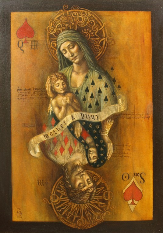 Jake Baddeley - Mother and Child - oil on canvas - 50 x 70 cm - 2007 - SOLD
