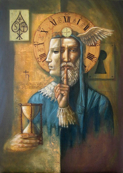 Jake Baddeley - The Hermit - oil on canvas - 90 x 70 cm - 2007 - SOLD