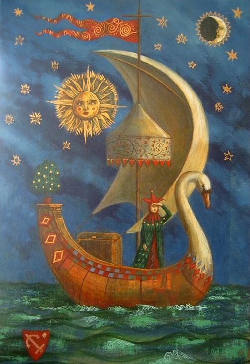 Jake Baddeley - The Journey - oil on canvas - 60 x 40 cm  - 2007 - SOLD