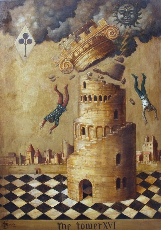 Jake Baddeley - The Tower - oil on canvas- 50 x 70 cm - 2007