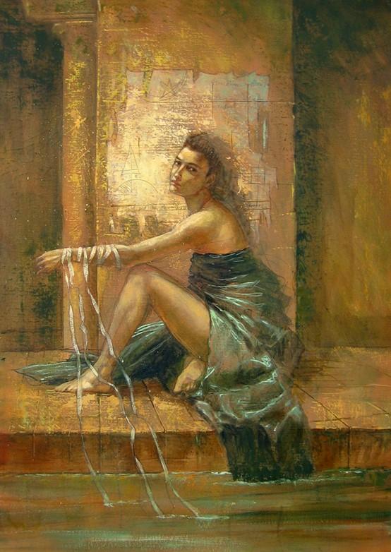 Jake Baddeley - Wishing Well - oil on canvas - 90 x 70 cm - 2007 - SOLD
