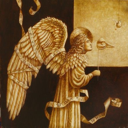 Jake Baddeley - As Above So Below - oil on wood panel - 35 x 35 cm - 2008 - SOLD