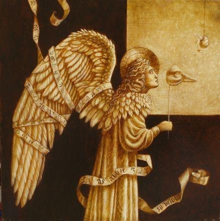Jake Baddeley - As Above So Below - oil on wood panel - 35 x 35 cm - 2008 - SOLD