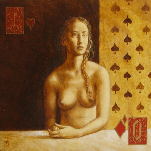 Cecilia - oil on wood panel - 35 x 35 cm - 2008 - SOLD