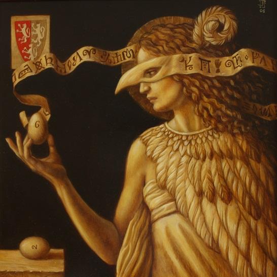 Egg of Columbus - oil on wood panel - 35 x 35 cm - 2008 - SOLD
