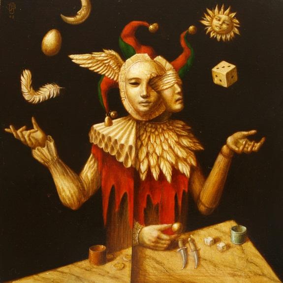 Le Battaleur - oil on wood panel - 35 x 35 cm - 2008 - SOLD