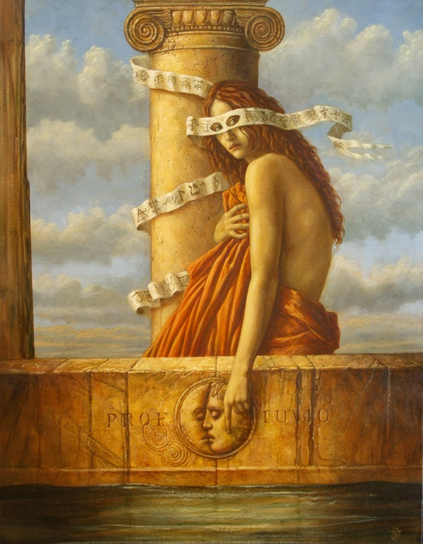 Jake Baddeley - Profluvio - oil on canvas - 90 x 70 cm - 2008 - SOLD