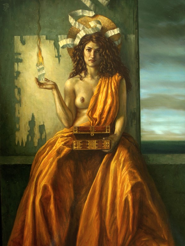 Jake Baddeley - Burning Wishes - oil on canvas - 90 x 70 cm - 2009 - SOLD