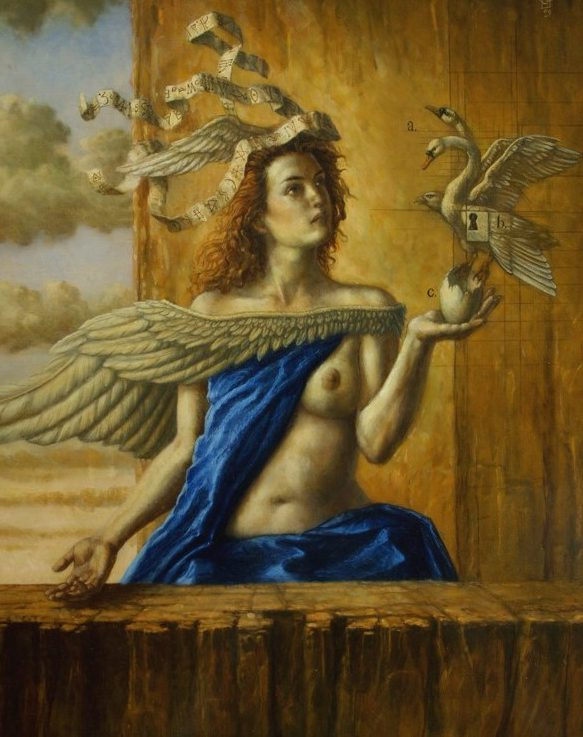 Jake Baddeley - Dreaming Out Loud - oil on canvas - 90 x 70 cm - 2009 - SOLD