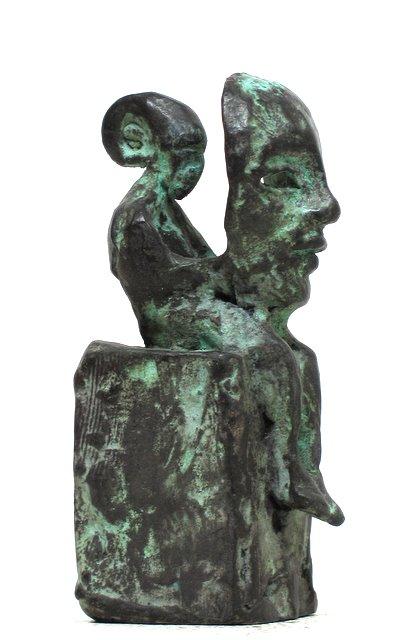 Jake Baddeley - Persona - bronze sculpture - 12 cm - edition of 12