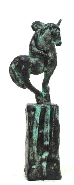 Jake Baddeley - The Rider - bronze sculpture - 17 cm - edition of 12