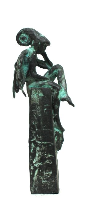 Jake Baddeley - Waiting for the Right Wind - bronze sculpture - 18 cm - edition of 12