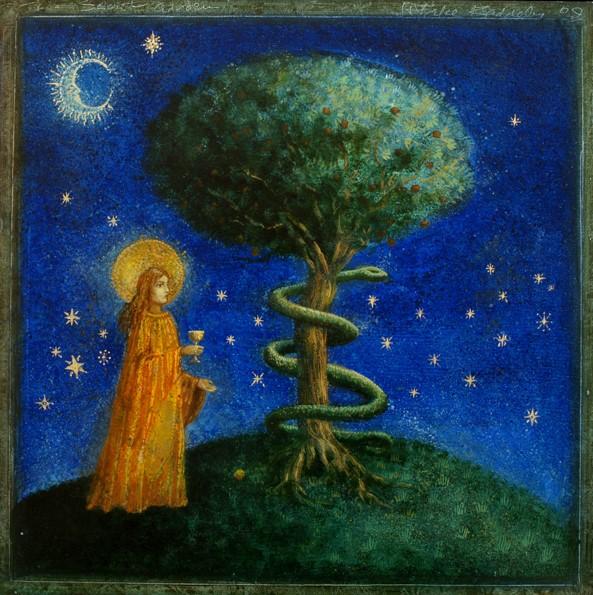 The Secret Garden - oil on wood panel - 40 x 40 cm - 2009