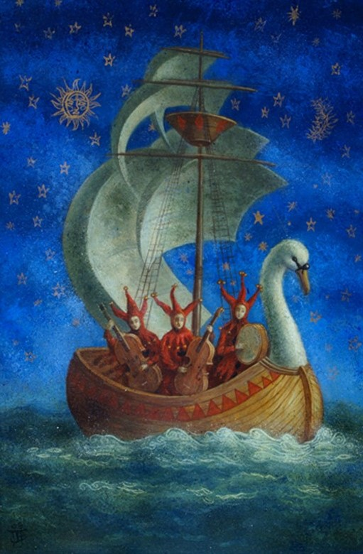Ship of Fools - oil on wood panel - 60 x 40 cm - 2009 - SOLD