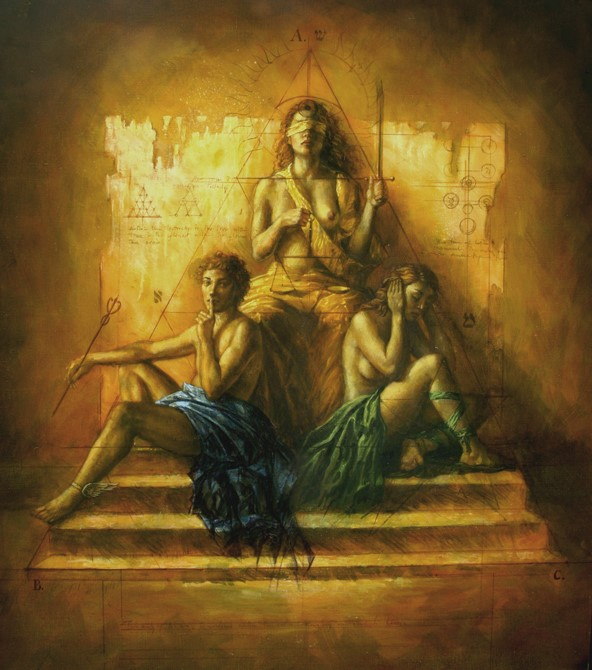 The Throne - oil on canvas - 90 x 90 cm - 2009 - SOLD