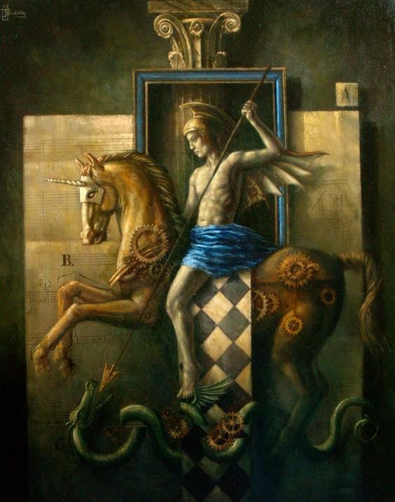 The Warrior - oil on canvas - 90 x 70 cm - 2009