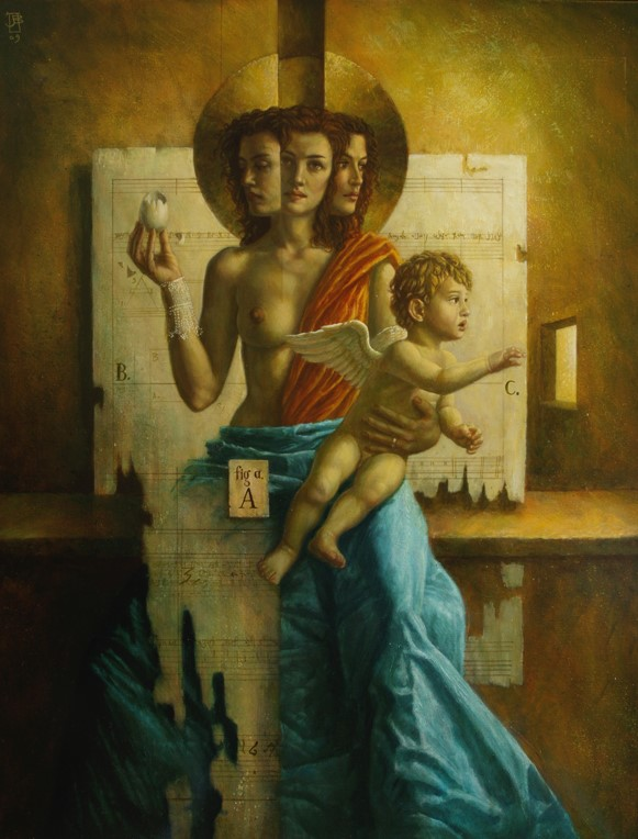 Jake Baddeley - What it is, What it was, What it always will be - oil on canvas - 90 x 70 cm - 2009 - SOLD