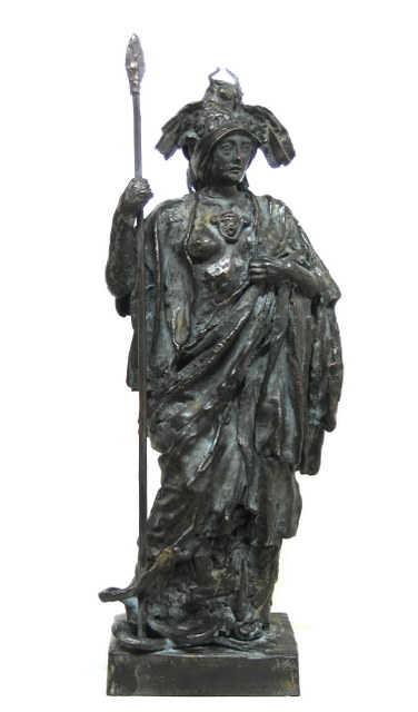 Jake Baddeley - Pallas Athena - bronze sculpture - 30 cm - 2010 - edition of 12