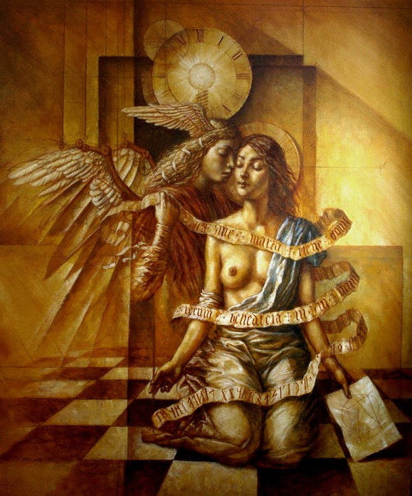 Annunciation - oil on canvas - 190 x 150 cm - 2010