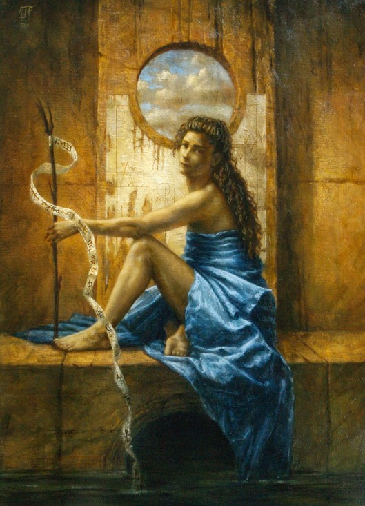 Jake Baddeley - 3 Worlds - oil on canvas - 90 x 70 cm - 2010 - SOLD