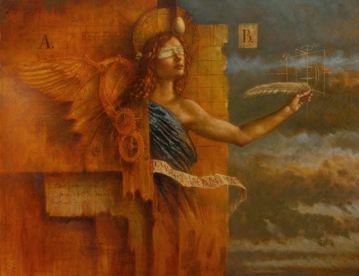 Jake Baddeley - Anatomy of Angels - oil on canvas - 90 x 70 cm - 2011 - SOLD