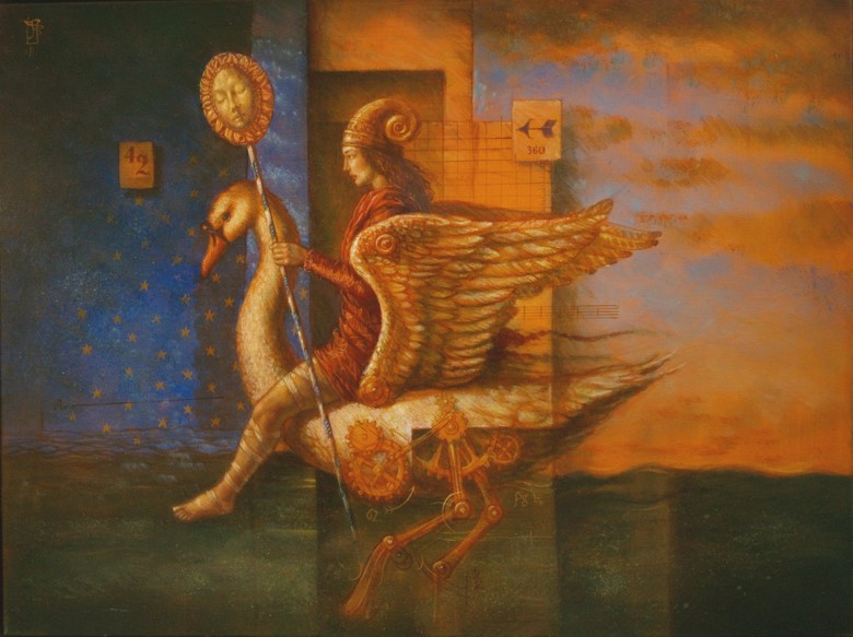 Jake Baddeley - Between Shadow and Light - oil on canvas - 90 x 70 cm - 2011 - SOLD