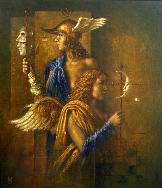 Jake Baddeley - Experiment for Angels - oil on canvas - 80 x 65 cm - 2011 - SOLD