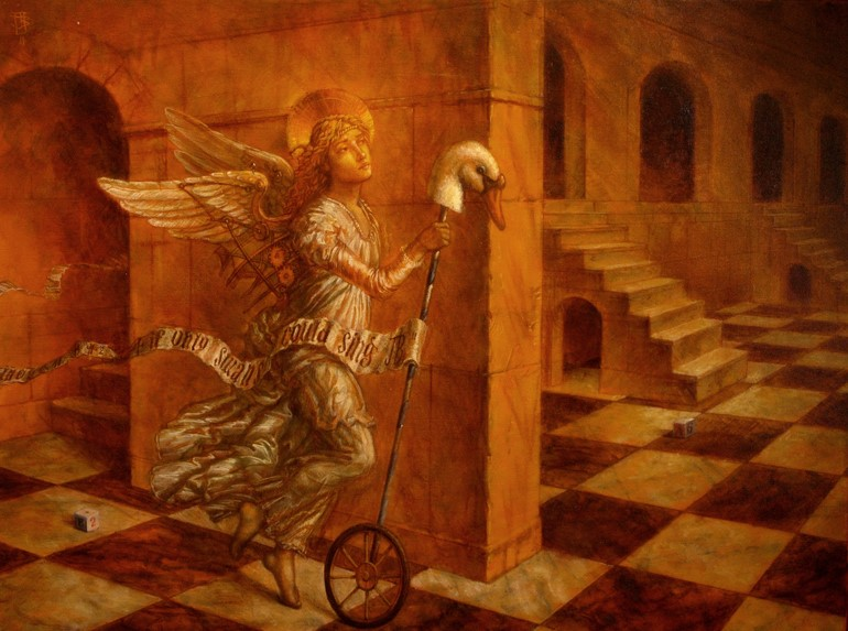 Jake Baddeley - If Swans Could Sing - oil on canvas - 90 x 70 cm - 2011 - SOLD