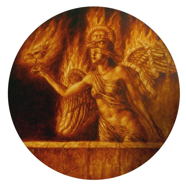 Jake Baddeley - Phoenix III - oil on wood panel - 90 cm - 2011
