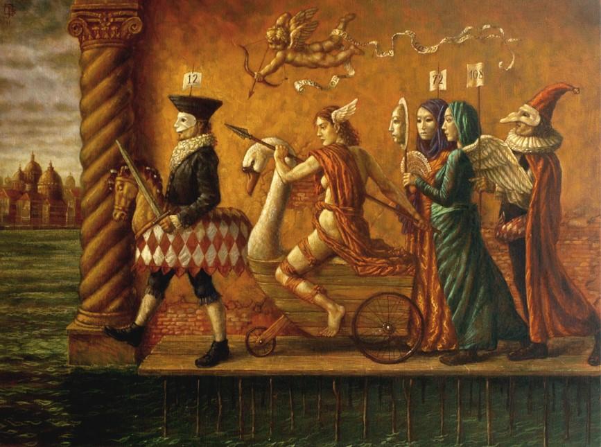 Jake Baddeley - The Festival of Venus - oil on canvas - 80 x 60 cm - 2011 - SOLD