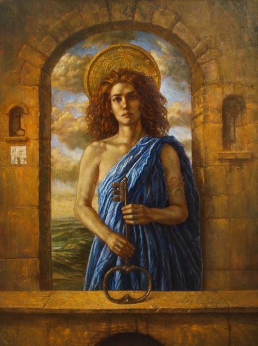 Jake Baddeley - The First Gate - oil on canvas - 90 x 70 cm - 2011 - SOLD