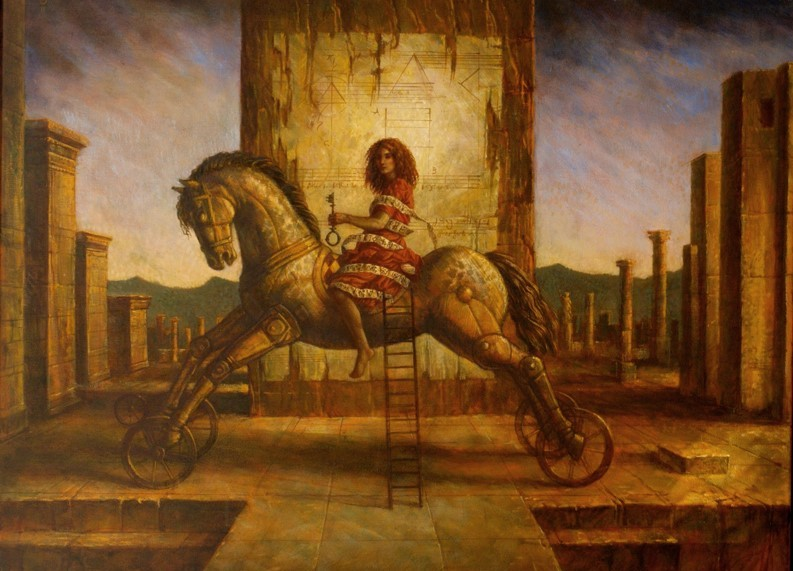 Jake Baddeley - The Second Gate - oil on canvas - 90 x 70 cm - 2011 - SOLD