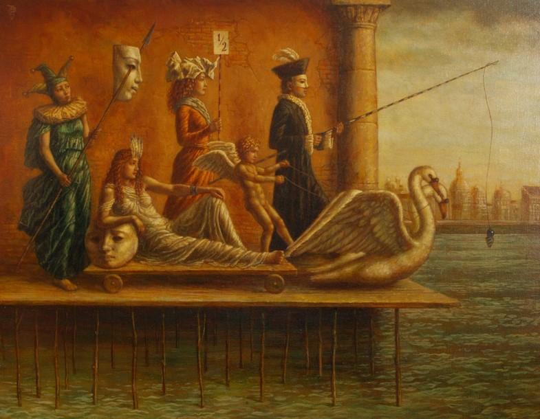 Jake Baddeley - Festival of Venus 2 - oil on canvas - 60 x 80 cm - 2012 - SOLD