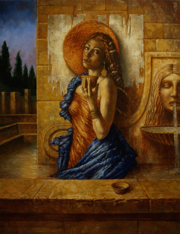 Jake Baddeley - Fountain of Youth - oil on canvas - 90 x 70 cm - 2012 - SOLD